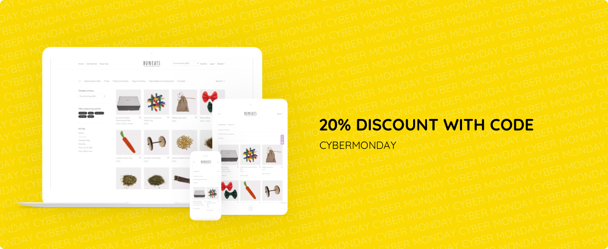 Cyber Monday 20% Discount